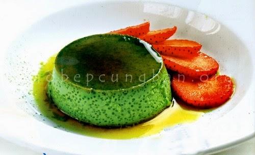 Cách làm bánh flan trà xanh (Matcha flan)