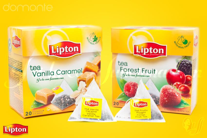 Tés Lipton Vanilla Caramel y Forest Fruit