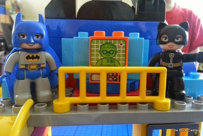 LEGO DUPLO Batcave Adventure set review Batman and Catwoman on balcony
