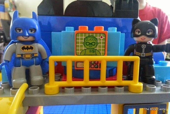 LEGO DUPLO Batcave Adventure set review Batman and Catwoman on balcony