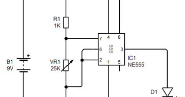 NE555 as well Simple Electronics Projects Circuit Diagram besides Digital Timing Circuits   555 Astable   Activity further 042 likewise Weerstand led. on ne555 timer circuit