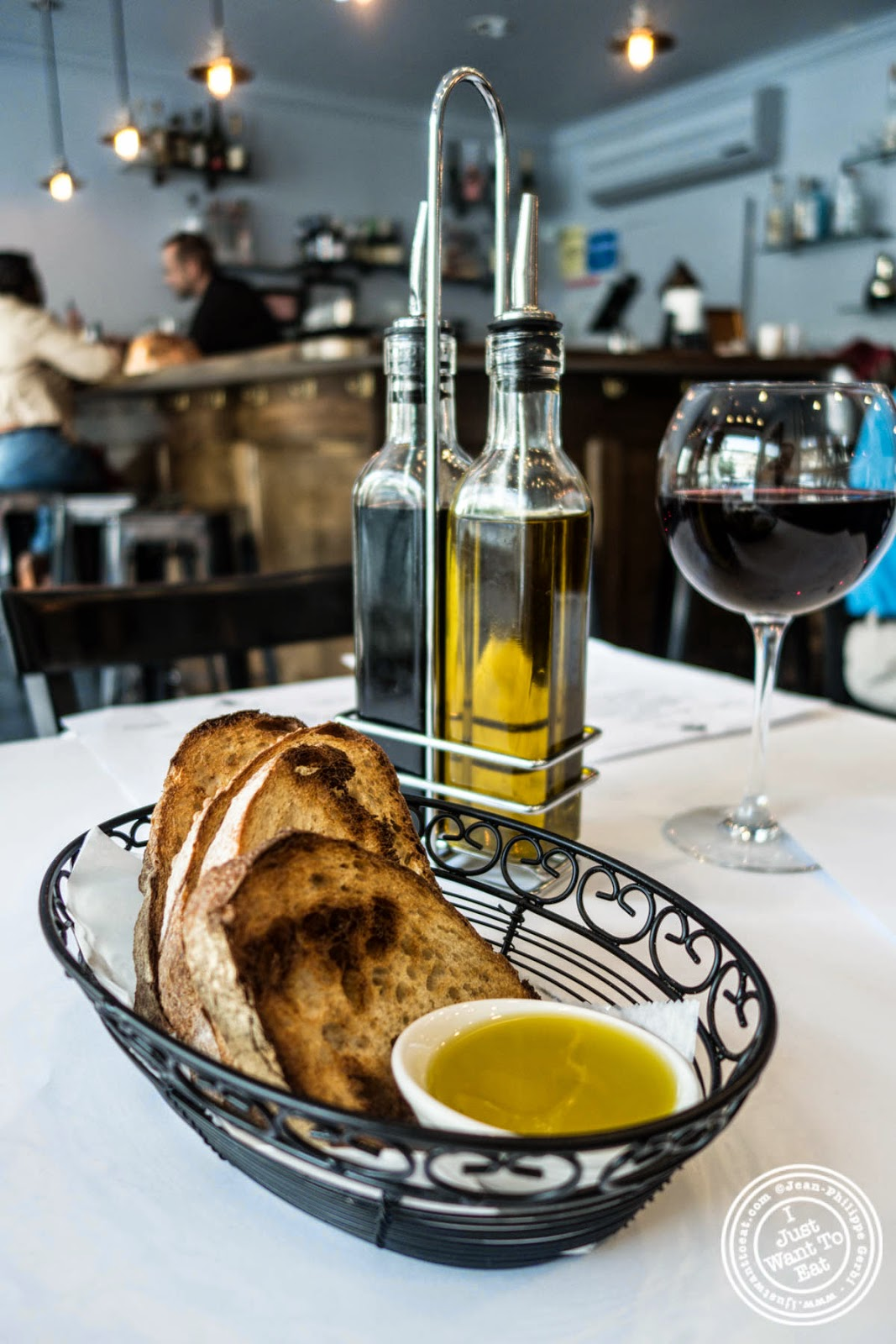 image of bread basket at Frere de Lys, French restaurant on the Upper East Side, NY