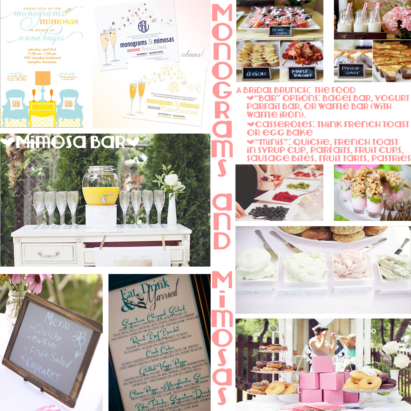 planning a bridal shower why not host a monograms and mimosas bridal shower so