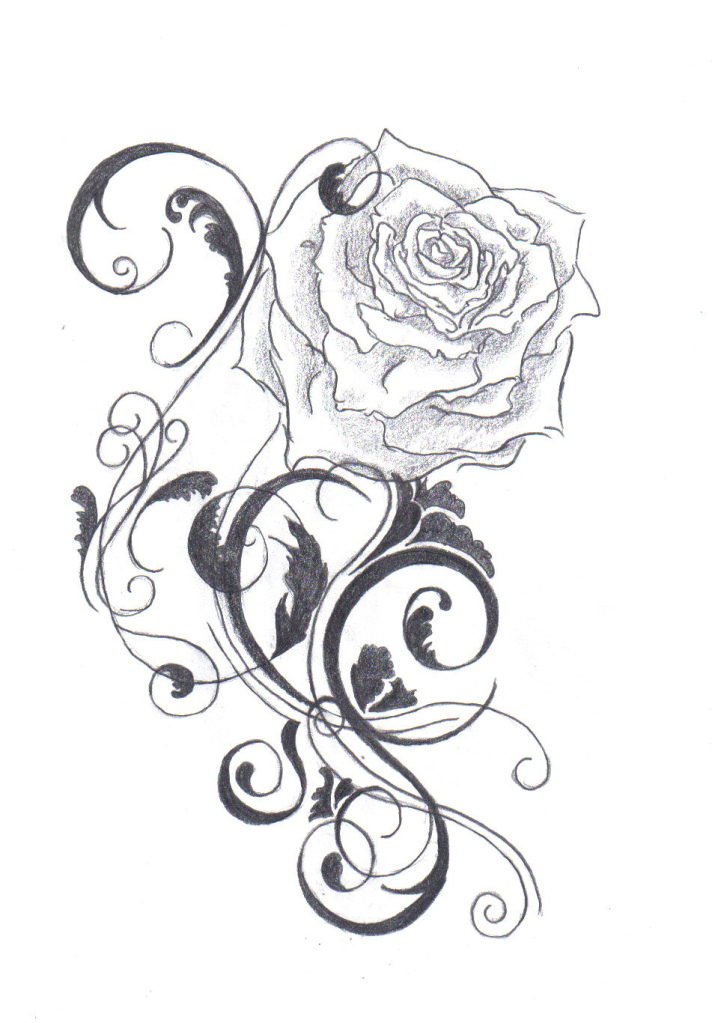drawing black rose tattoo evil black rose tattoo on shoulder black ...