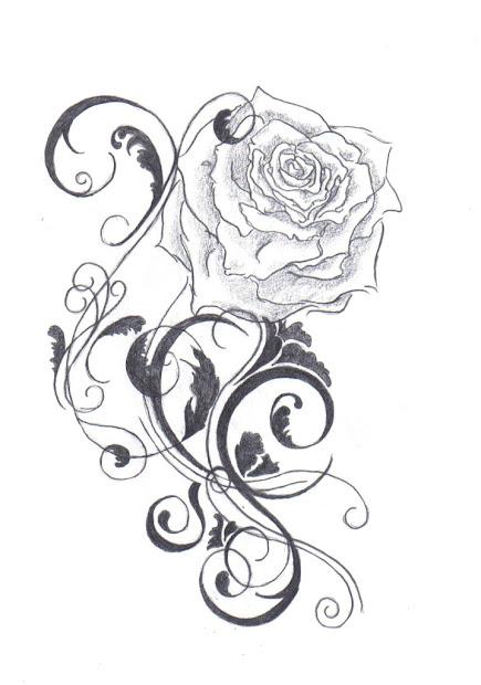 black rose tattoo design ideas