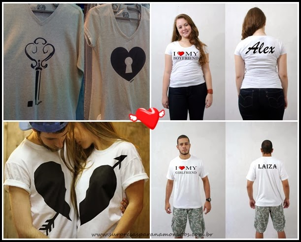 camisas para namorados que se completam