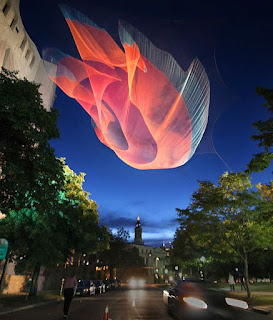 Janet Echelman - Esculturas com Redes de Pesca e Luz