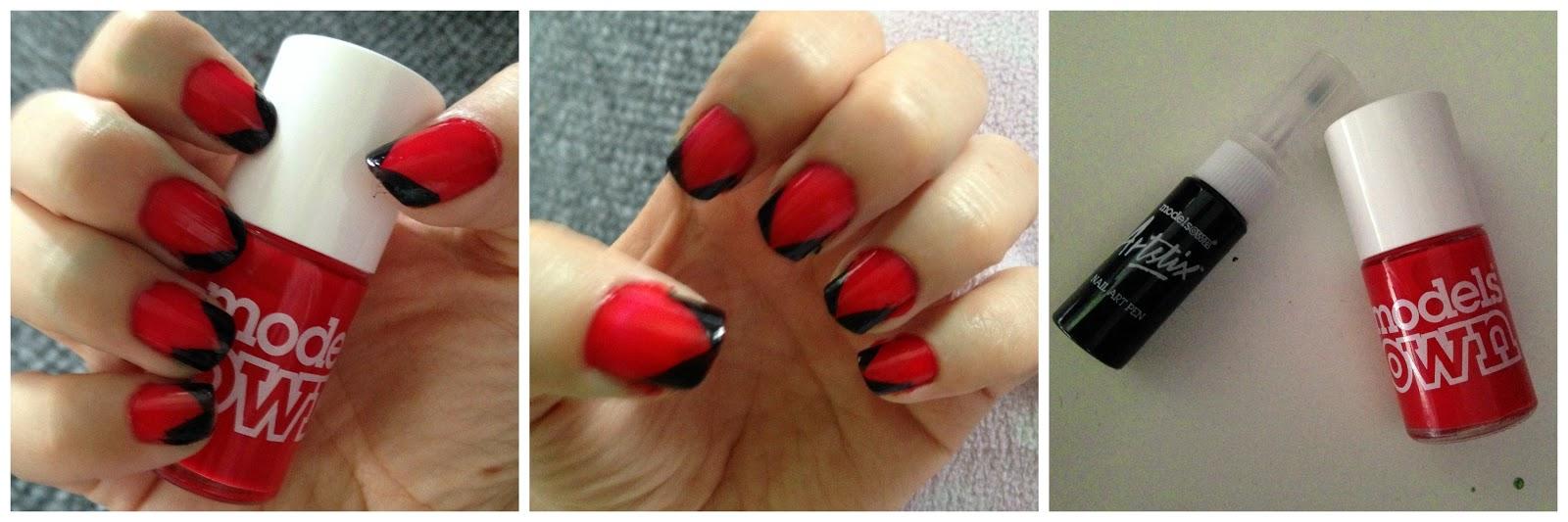 faux almond nail effect