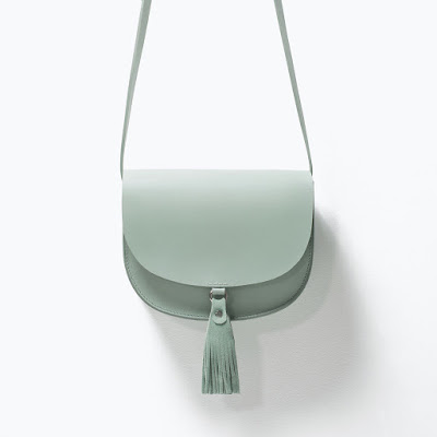 zara duck egg bag