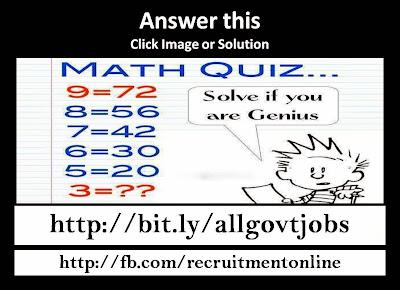 Math Quiz Answer in 5 Sec
