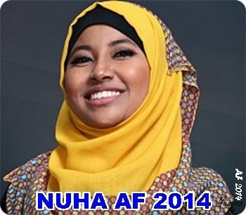 Biodata Nuha AF 2014, biodata peserta Akademi Fantasia 2014, profil Akademi Fantasia 2014, latar belakang peserta Akademi Fantasia 2014, gambar Nuha AF 2014