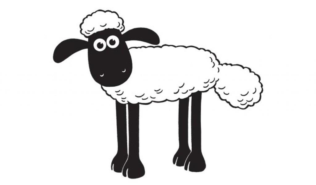 Shaun das Schaf zum Ausmalen