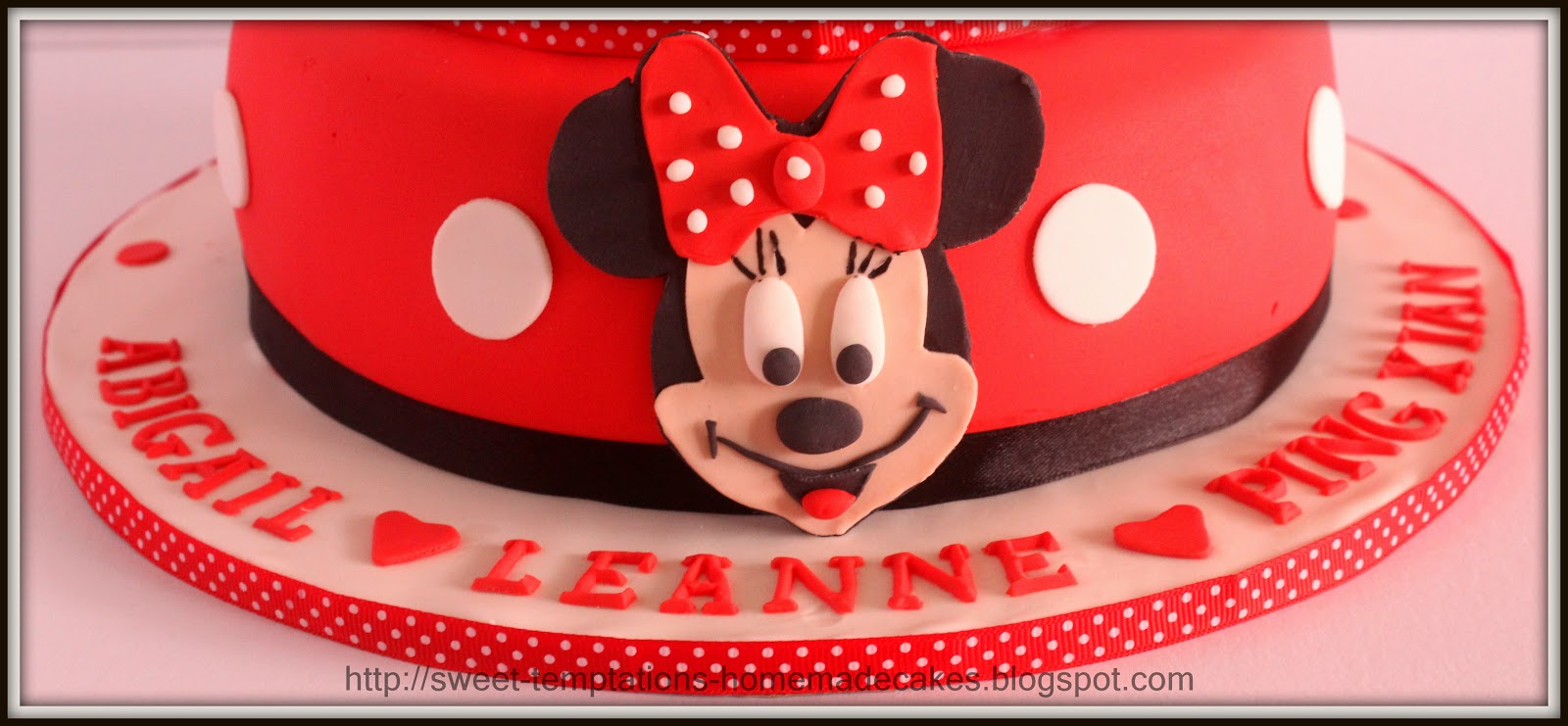 Sweet Temptations Homemade Cakes Pastry 2 Tier Minnie Mouse Cake