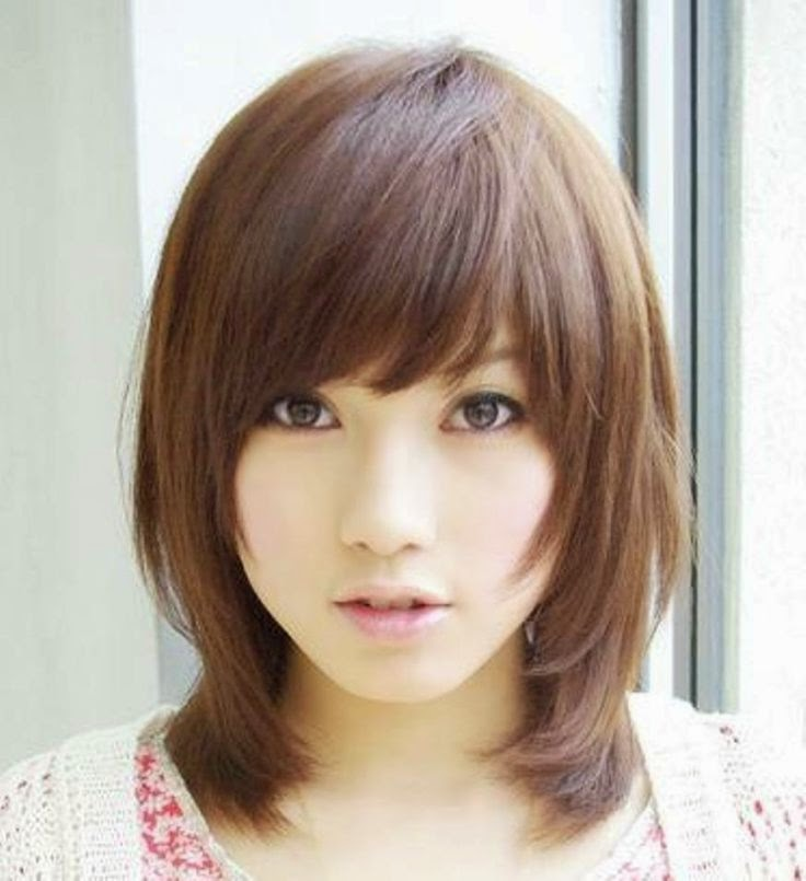 Model Rambut Wanita Sebahu Ala Korea 5