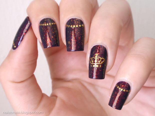 nfu 51 & golden crown nail art