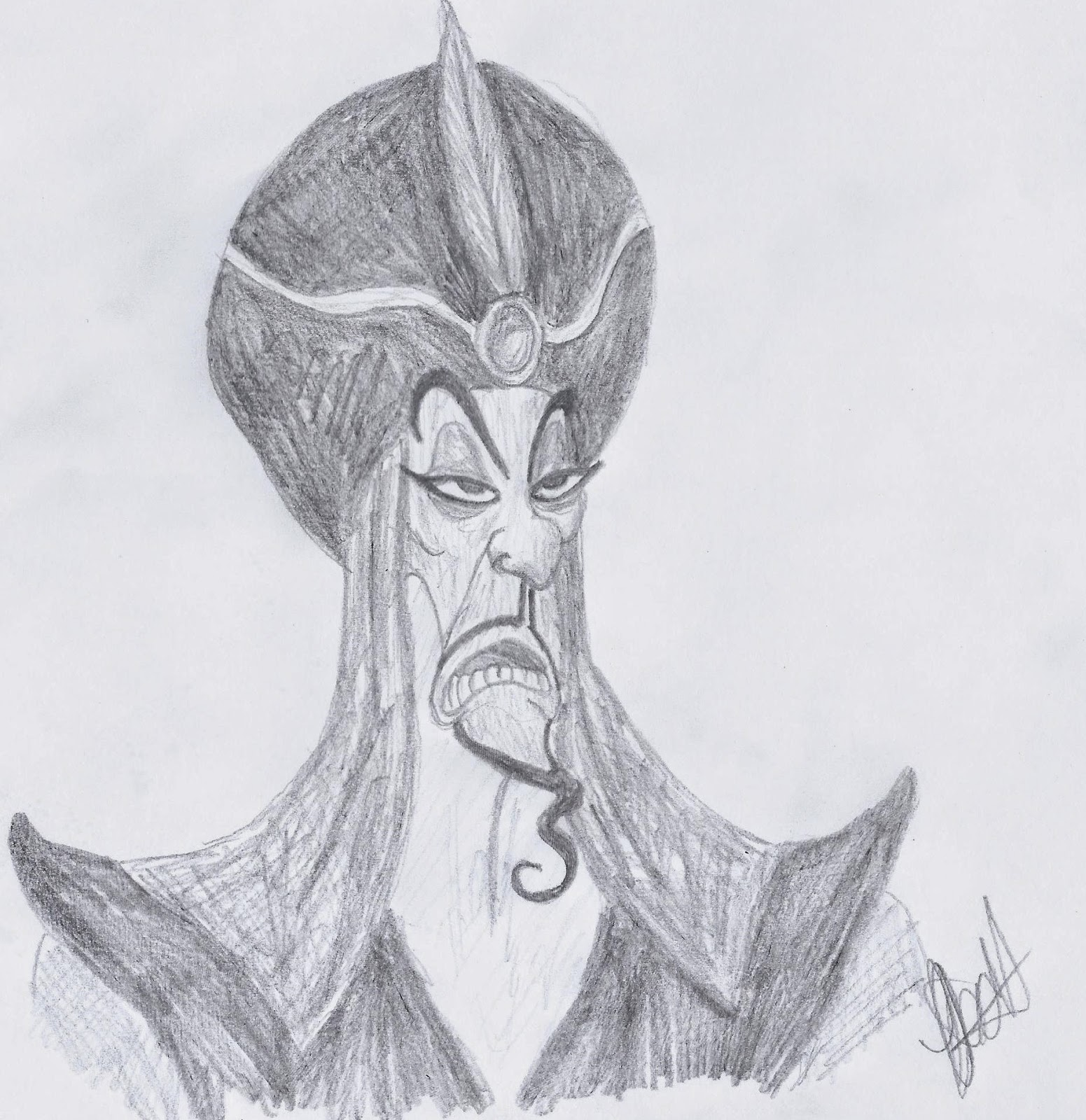 Disney Study: Jafar from Aladdin, www.JoLinsdell.com #Disney #Sketches