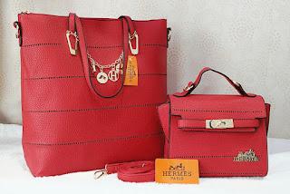 Tas KW Hermes Fashion Set 2in1 Semprem 6199JY Jakarta