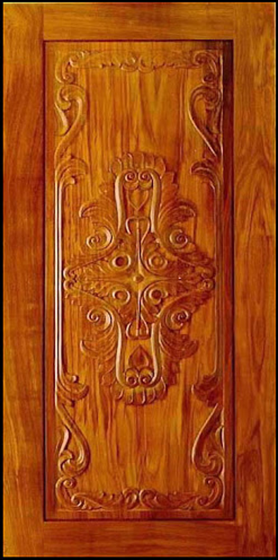 Front door pictures kerala model wood dsigns wood design for Wood door design latest