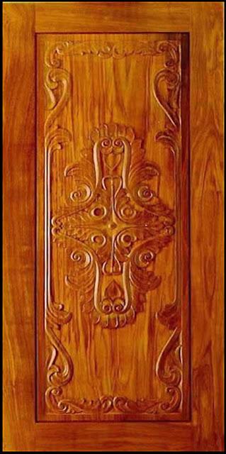 Front door pictures kerala model wood dsigns wood design for Door new dizain