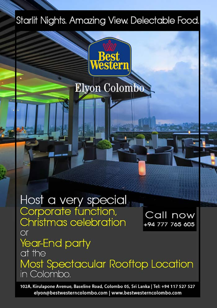 We are proud to be the only BEST WESTERN in Colombo, Sri Lanka. Conveniently located within close proximity to downtown Colombo attractions, our beautifully appointed rooms offer guests the conveniences of home. Perfect for both business and leisure travelers alike, we understand the needs of our guests and strive to provide excellent service.  Elyon Colombo provides on premises, a full service restaurant catering to both local and international cuisine, an indoor gym and a bar offering guests their favourite beverages. We are focused on providing you with a relaxing and comfortable experience with a host of amenities that makes the BEST WESTERN Elyon Colombo the perfect choice while travelling for families or business groups.  Our premier accommodation set in a contemporary atmosphere includes a choice of twin, double or family rooms. All rooms come equipped with free high-speed internet access, a 32' LCD TV, a mini-bar and a host of other amenities to make you feel at home.  As the first location for BEST WESTERN in Sri Lanka we have gone above and beyond to make your stay refreshing and comfortable. Located along Sri Lanka's major freeway, Elyon Colombo is an ideal base for a family vacation. Our business center facilities also serve guests traveling on business meetings.