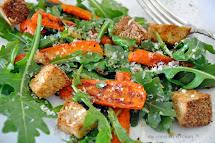 Roasted Carrot Salad with Arugula