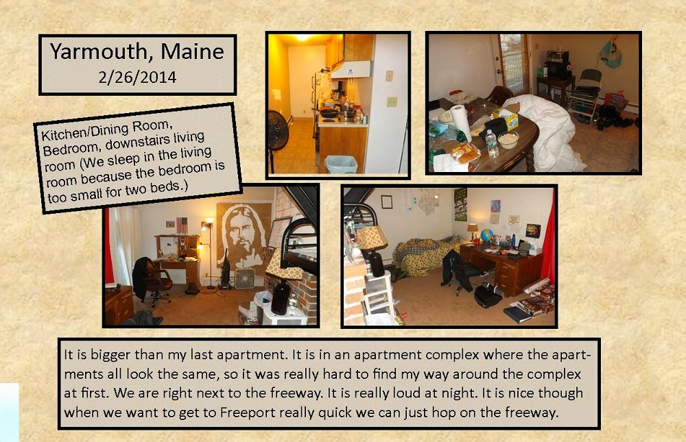February 26, 2014 -Yarmouth, Maine Apartment