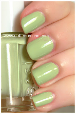 Essie Spring 2012 Navigate Her swatches nail polish swatch pastel green