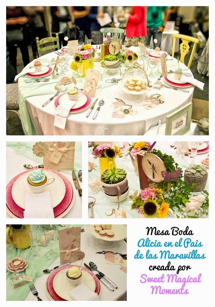 Exhibicion Mesas Banquete Boda decoradas por Wedding Planners Barcelona