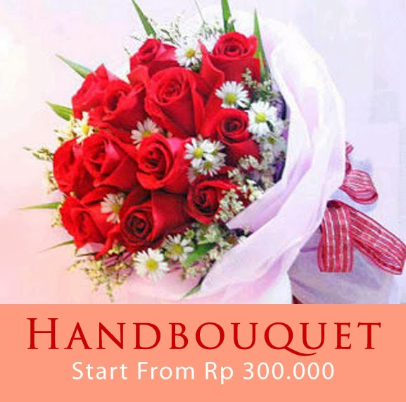 Bunga Handbouquet mawar yang indah dan menawan