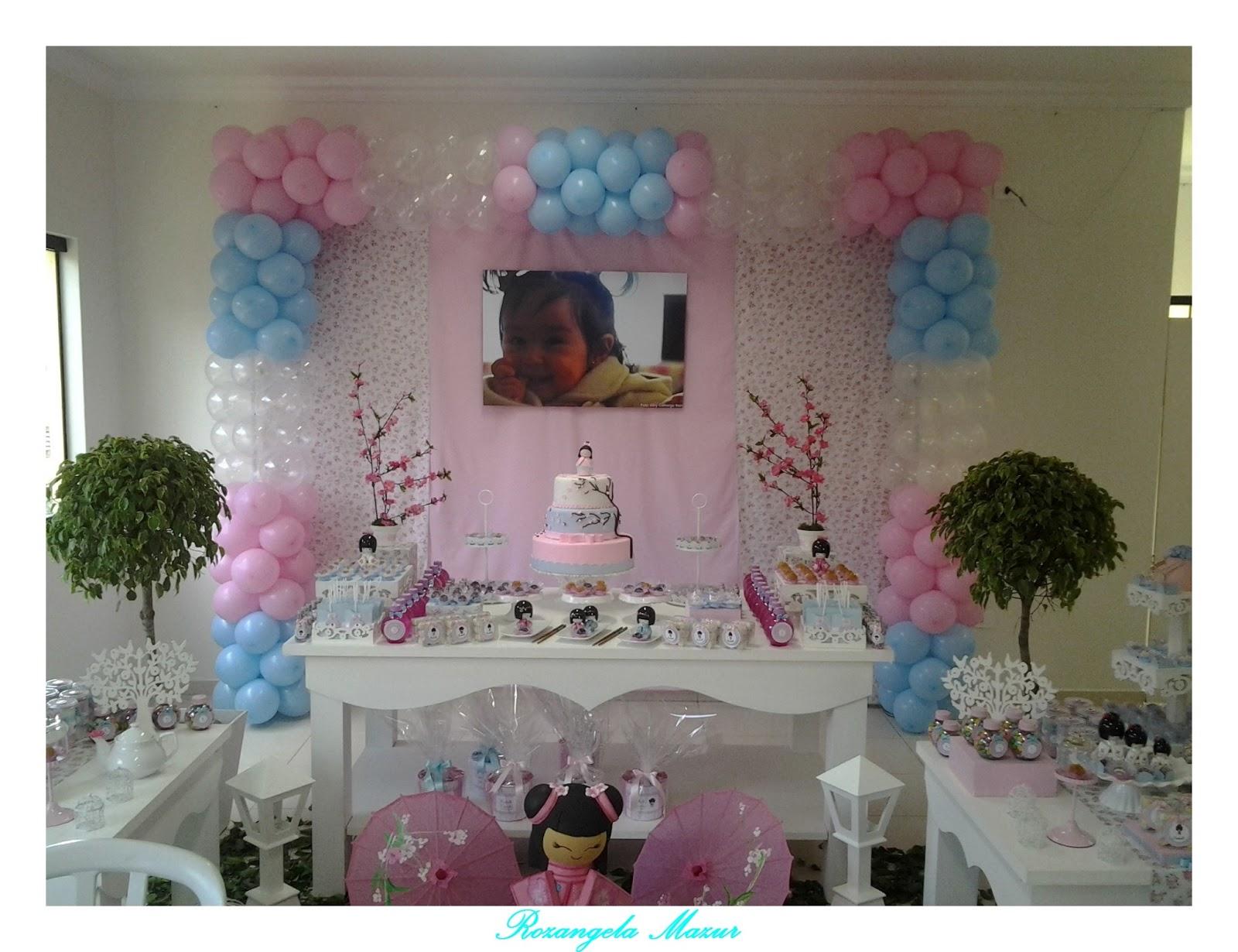 decoracao festa kokeshi:Festa Infantil por Rozangela Mazur: Decoração Kokeshi