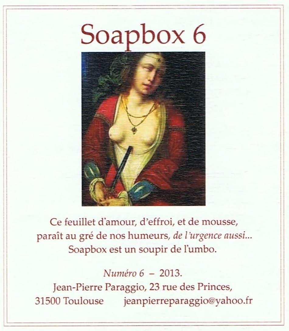 SOAPBOX N°6, FEUILLET de l'UMBO, Poésie & Art - Décembre 2013