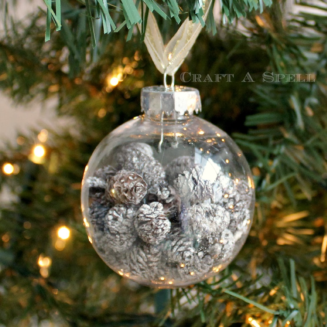Craft a spell pearl and pinecone ornaments for Pine cone christmas ornaments crafts