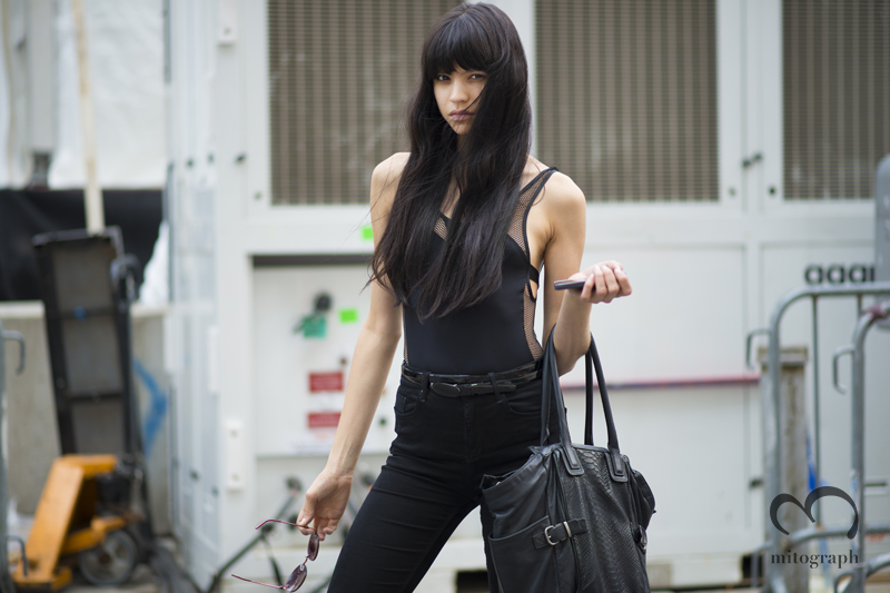 mitograph Catalina Llanes at lincoln Center New York Fashion Week 2014 Spring Summer NYFW Street Style Shimpei Mito