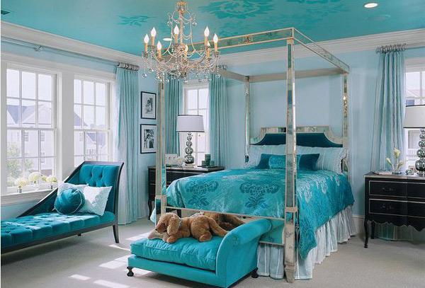 Desain Kamar Tidur Berwarna Biru