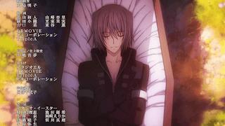 dead anime guy hair white red eye