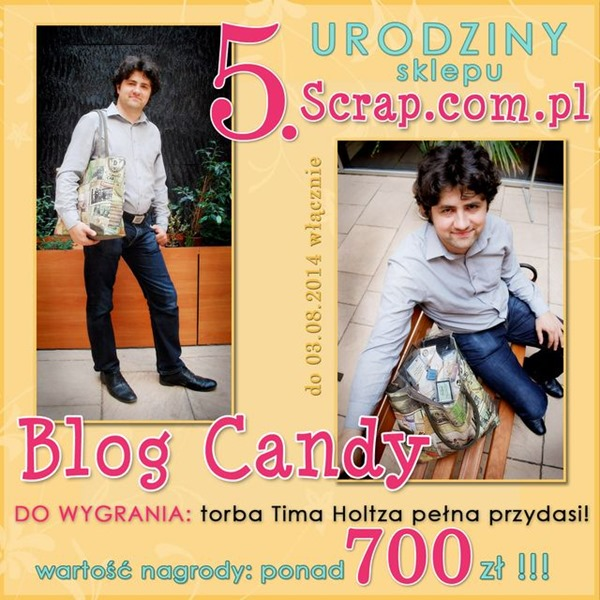 5 urodziny sklepu Scrap.com.pl
