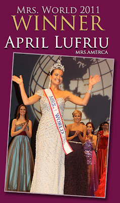 mrs. world 2011 winner america usa april lufriu
