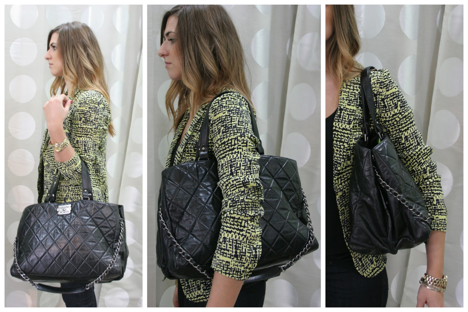 Bags on Body II: Fab Chanel! | Recycled Chic Consignment : quilted boy tote chanel - Adamdwight.com