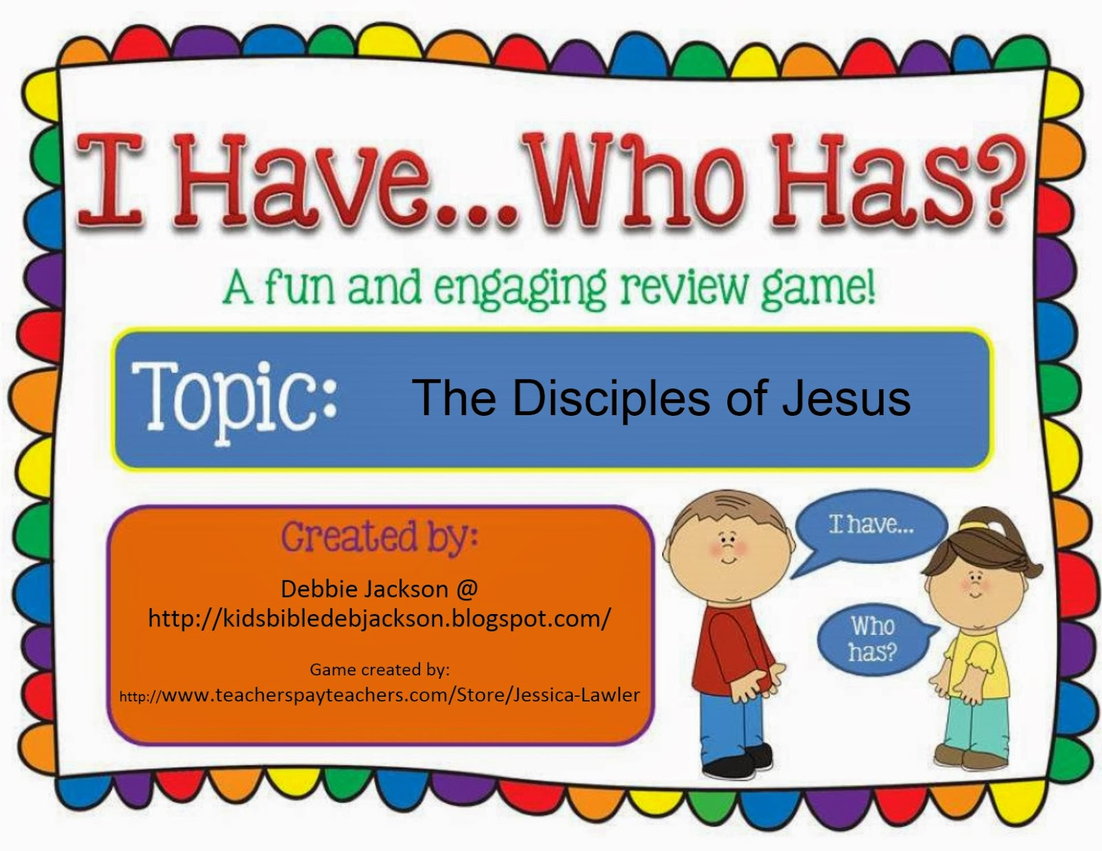 bible fun for kids i have who has the disciples game