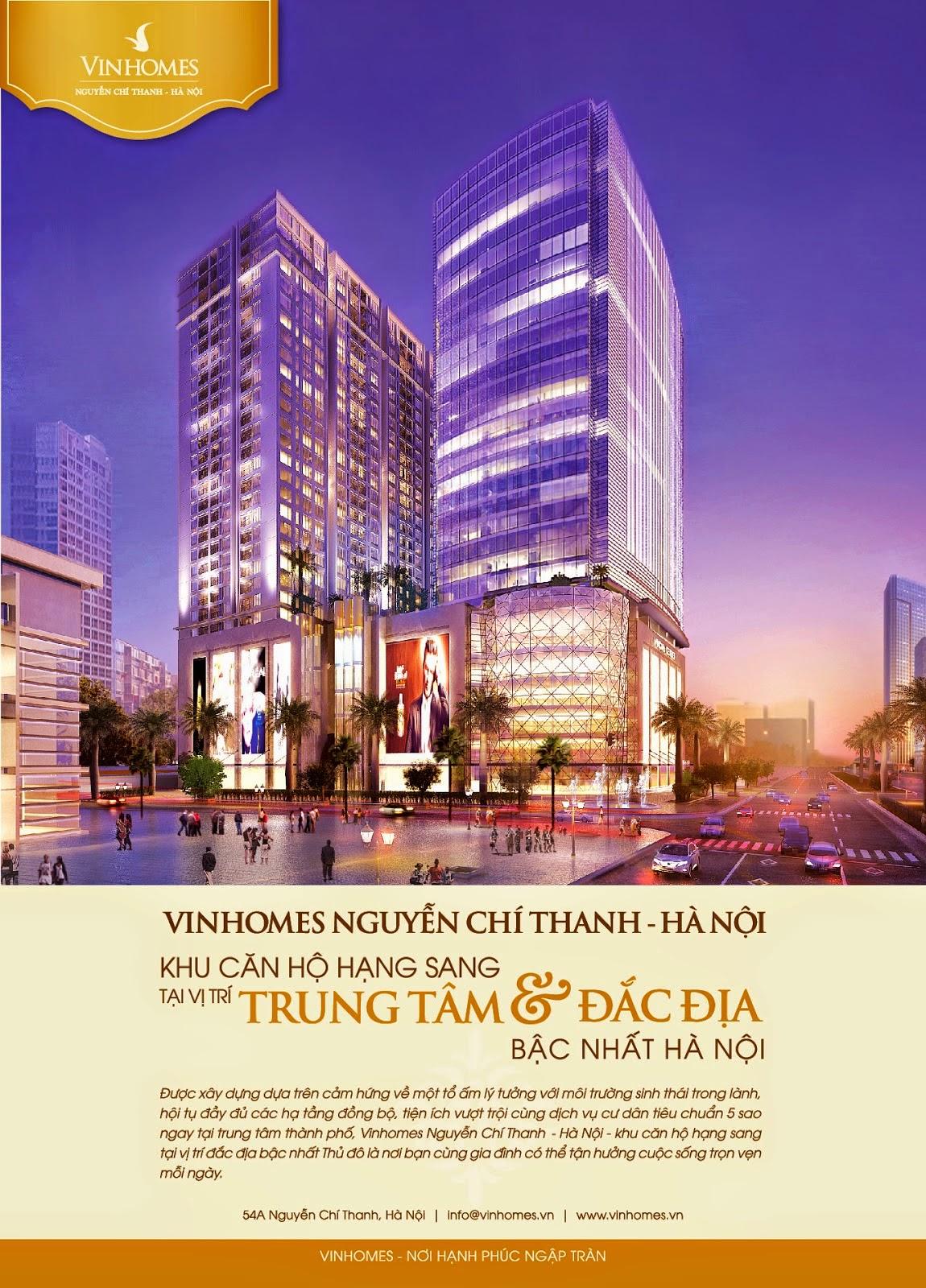 Ưu đãi lớn đối với khách hàng mua căn hộ tại Vinhomes Nguyễn Chí Thanh từ CĐT