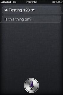 Siri: Testing 123...