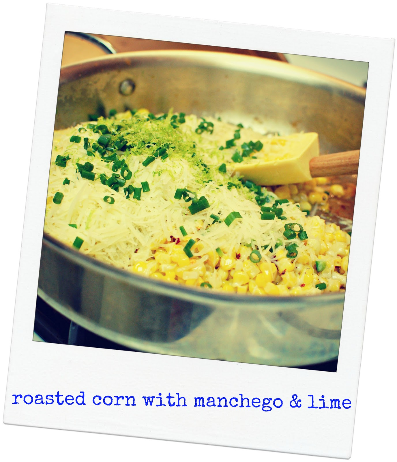 roasted corn with manchego and lime