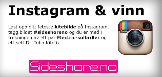 Delta i vår konkurranse på Instagram. Tagg ditt beste kitebilde med #sideshoreno og du er automatisk med i trekningen