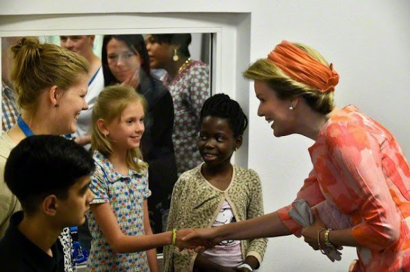 Queen Mathilde Attended The Opening Of Edegem Hospital