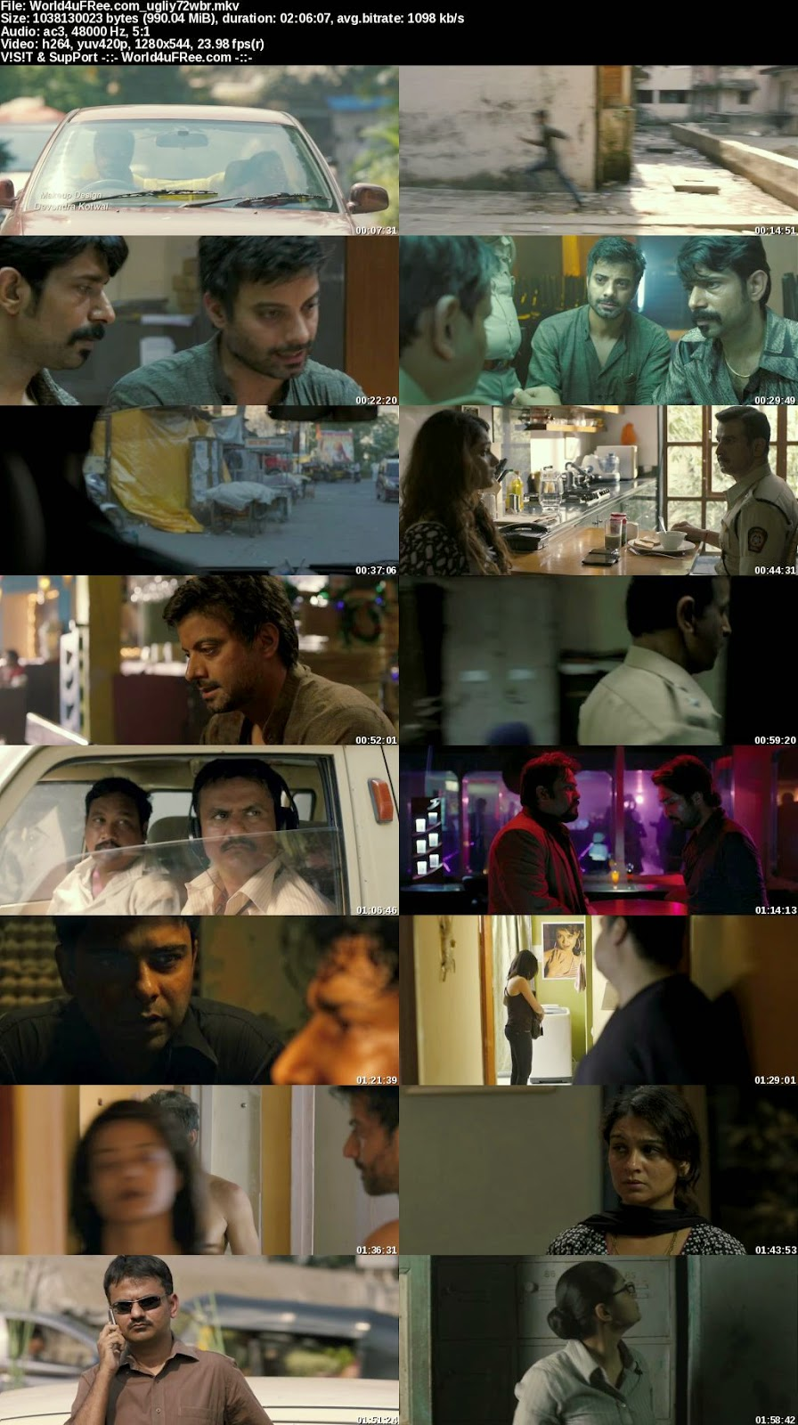 Ugly 2014 Hindi 720p BluRay 1GB Bollywood movie Ugly hindi movie Ugly movie 720p BRRip bluray dvd rip web rip hdrip 700mb free download or watch online at world4ufree.be