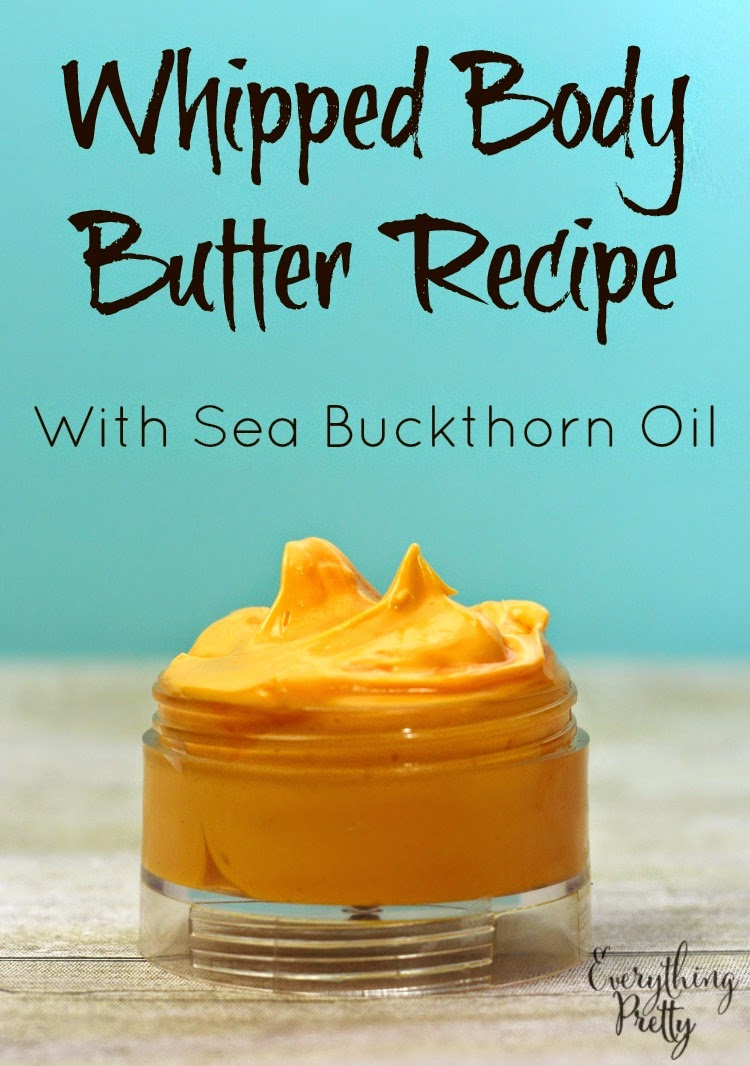 Whipped body butter recipe with sea buckthorn oil.
