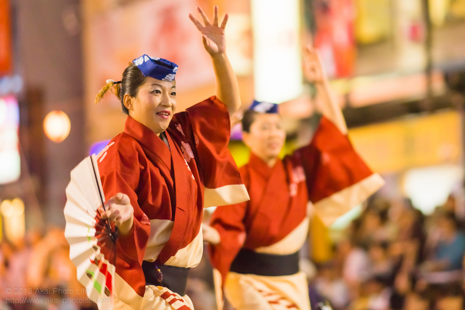 踊れ西八夏まつり、弐穂連の女性による扇子踊り