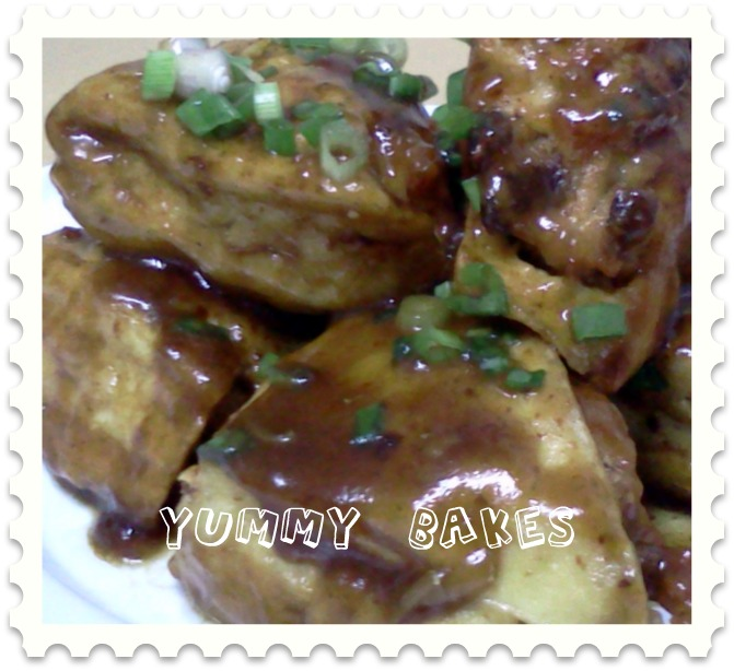 YUMMY BAKES: Braised Stuffed Tofu (金钱袋 )