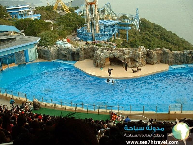 حديقة المحيطات فى شنغهاى