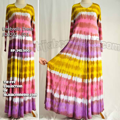 Dress jumputan Dian Pelangi Khas Batik Pekalongan